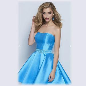 NWT Prom Short Turq dress size 10 Splash E669